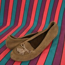 Crocs Fuzzy Slip On Shoes House Tassels Womens Brown Sz 10
