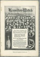 1914 HAMILTON WATCH advertisement, Pocket Watch, Railroad accuracy