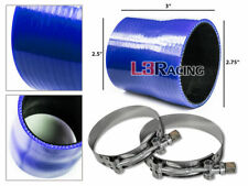 """BLUE 2.75""""-2.5"""" 70-63mm 3-ply Silicone Reducer Hose Turbo Intake Intercooler Nis"""