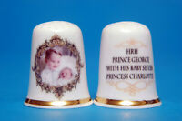 HRH. Prince George with His Baby Sister Charlotte 2015 China Thimble B/112