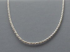 """-Rope Link-035- 1.6mm- Italy 925 New Italian Sterling Silver Necklace- 18"""""""