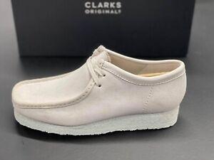 Clarks Originals Wallabee 26158421 White Suede 2021 Brand New Complete