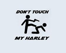 Don ' t Tocas my Harley Davidson Pegatinas Lámina Pegamento Motocicleta Chopper