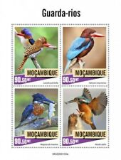 Mozambique - 2020 Kingfisher Birds - 4 Stamp Sheet - MOZ200103a