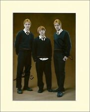HARRY POTTER OLIVER + JAMES PHELPS WEASLEY PP MOUNTED SIGNED AUTOGRAPH PHOTO