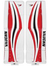 """New Vaughn Xr Pro Sr goalie leg pads 33""""+2 Black/Red V7 Velocity senior hockey"""