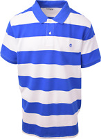 Timberland Men's Blue & White Striped S/S Polo Shirt (Retail $55) S08