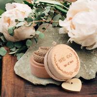 Rustic Wedding Ring Bearer Box Ring Holder Wooden Pillow Box Wedding Supplies