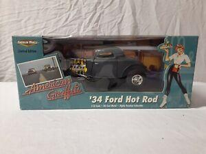 Ertl 1/18 Diecast American Muscle American Graffiti '34 Ford Hot Rod Rare 32859