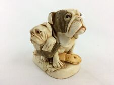 "Harmony Kingdom box TJHO3 ""Dead Ringer"" bulldog, 1999/2009 NIB 3pc. Version one"