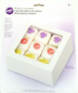 """WILTON TREAT BOXED FOR HOLIDAY FOOD,CAKE GIFT NEW 3PCS/PACK 8"""" X 8"""" X 4"""""""