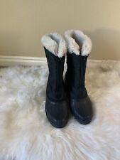 Sorel Winter Boots SIZE 7 Black Nylon  Canada