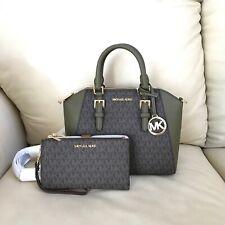 Michael Kors Ciara Duffle Medium Brown Messenger Crossbody Handbag