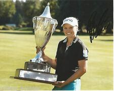 LPGA Brooke Henderson Autographed Signed 8x10 Photo COA F