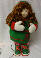 Vintage Santas Best Christmas Motion Animated Musical Singing Girl Doll