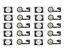 LOT OF 10 NEW WHITE Home Menu Button Flex Cable + Key Cap assembly for iPhone 4S