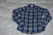 Authentic A&FAbercrombie & Fitch Plaid Cotton Shirt  Blue Mens Size XL