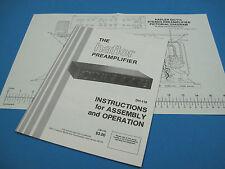Nos Hafler Dh-110 (Dh110) Preamplifier Manual (Original)