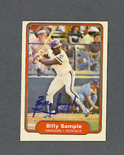 Billy Sample signed Texas Rangers 1982 Fleer baseball card