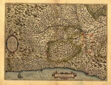 Large Northern Italy Italian Genoa Milano Crema Old Antique Map Italiana Mappa