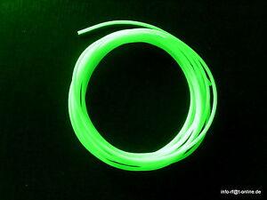 5m Leuchtschlauch Fluo selbstleuchtend  6mm Meeressystem Meterpreis 1,80€