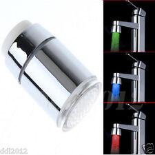 Temperature Sensor Kitchen Water Tap Faucet Glow Shower 7 Color LED Light