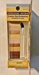 Physicians Shimmer Strips Custom Eye Enhancing Shadow & Liner Brown Eyes 2219