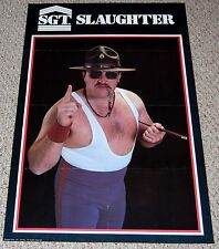Vintage WWF SGT. SLAUGHTER 1980's Poster Personalities Inc WWE Wrestling