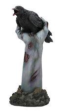 Crow On Zombie Hand Statue Sculpture Figure