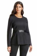 Viscose Long Sleeve Dry-clean Only Solid Tops for Women