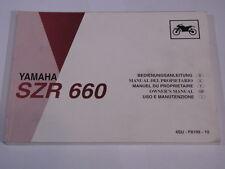 YAMAHA SZR660 1996  OWNER'S OWNERS MANUEL DU PROPRIETAIRE BETRIEBSANLEITUNG