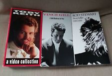 Lot of 3 Toby Keith A Video Collection Rare Vhs 1994 music Vince Gill Rod Stewar