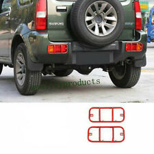 Red Metal  Hoods Rear Tail Fog Light Lamp Cover Trim For Suzuki Jimny 2007-2016