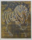 "TADASHI NAKAYAMA Signed 1962 Original Color Woodblock Print - ""Horse"""