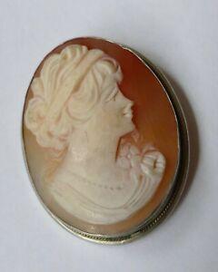 Jugendstil Anhänger Gemme Silber 800 Vintage um 1900 silver pendant