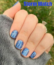 Color Street STORM WATCH (Royal Deep Blue Silver Glitter Icy Winter Holiday)