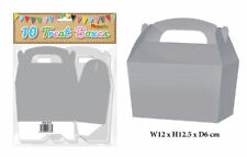 10 Sliver Treat Boxes - Small Cupcake Food Loot Cardboard Gift