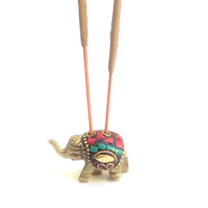 Attractive Bronze quality Metal Elephant incense stick holder ash catcher gift