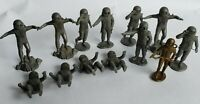 1960'S GREY SPACEMEN TOY FIGURE MIXED LOT OUTER SPACE VINTAGE RETRO TOYS ALIEN