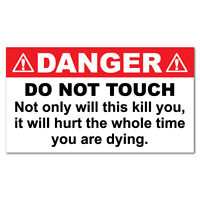 Danger Do Not Touch Animal Sticker Funny Car Stickers Novelty Decals #7392EN