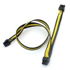 Quality PCI-E Cable 6pin Male to 2x8Pin Male (6+2Pin) 50+20cm. 18AWG Mining