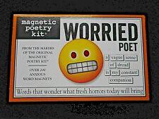 NEW WORRIED POET Magnetic Poetry Kit