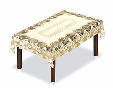 "Rectangular lace cream/dark gold Tablecloth 130 x 180cm (51""x71"") perfect gift"