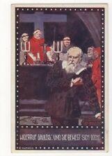 E Kutzer Widerruf Galileis Und Sie Bewegt Sich Doch Vintage Art Postcard US094
