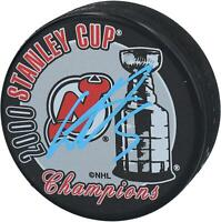 Colin White New Jersey Devils Signed 2000 Stanley Cup Champions Logo Hockey Puck