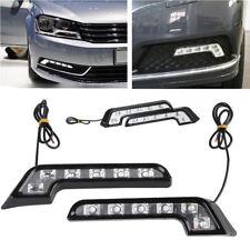 12V Tagfahrlicht Set Auto Universal 6 LED Nebelscheinwerfer DRL 10W Weiß 2 Stk.