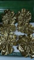 Bundle of 6 beautiful large gold-coloured decorative/craft bows- Christmas decor