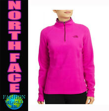 The North Face Women's Large 100 GLACIER 1/4 Zip Fleece Luminous Pink NWT