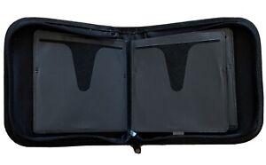 24 CD / DVD Storage Wallet / Case (black nylon)