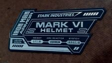 IRON MAN MARK 6 DISPLAY NAME PLACARD FOR YOUR HELMET ARMOR VI
